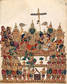 Devotion and idolatry: the conflicting purposes of a nineteenth-century Indian deity album Mysore Painting, Kalamkari Painting, Tanjore Painting, Silk Painting, Old Paintings, Indian Paintings, Vintage Paintings, Miniature Paintings, Indian Traditional Paintings