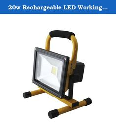 20w Rechargeable LED Working Lamp Flood Light Portable Light High Power Lighting. Input Voltage: AC85~265V/DC12V/24V Light Source:1* 20W LED(Epistar) Emitting Color:White(2700~7000k) Material: Aluminum +Toughened Glass Working Life: ¡Ý50000Hours Working temperature: -25¡æ¡«+45¡æ Product Size:L240*W185*H260MM On/Off Switch rechargeable Working time with full charging: 3~4 hours .