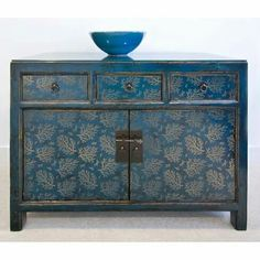 LuxTouch Vintage Furniture & Decor ~ With Louise May Heath.. stenciled cabinet..