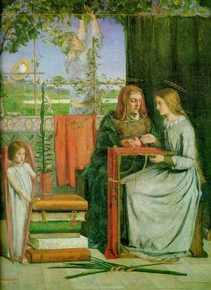 The Childhood of Mary Virgin, 1848, Dante Gabriel Rossetti Size: 83.2x65.4 cm Medium: oil, canvas