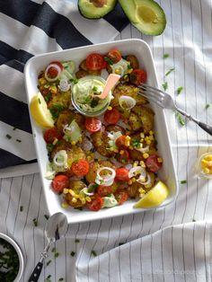Smashed Potato Salat mit Avocado-Dressing - Stilettos & Sprouts