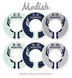 Modish Labels Baby Nursery Closet Dividers, Closet Organizers, Nursery Decor, Baby Boy, Deer, Antlers, Woodland. For price & product info go to: https://all4babies.co.business/modish-labels-baby-nursery-closet-dividers-closet-organizers-nursery-decor-baby-boy-deer-antlers-woodland-2/