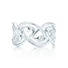 Paloma Picasso® Loving Heart swirl band ring in sterling silver.
