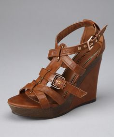 Take a look at this Tan Melody Wedge by Bucco on #zulily today!