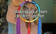 I think dream catchers are amazing. I'm not very talented, but I'd work hard to make one of these!