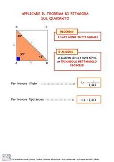 14. Applicazioni del teorema di Pitagora sul quadrato