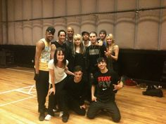 Some members of the Michael Jackson's 'This is it'-'family' (2009); e.g. Chris Grant, Travis Payne, Dres Reid, Nick Bass, Misha Gabriel, Tyne Stecklein and Timor Steffens