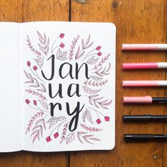 "Gefällt 220 Mal, 31 Kommentare - Lauren | Bullet Journal (@mygianthandwriting) auf Instagram: ""I started my January spreads yesterday, I'm getting there! I've gone with the very obvious theme of…"""