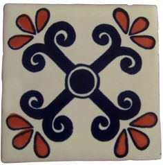 x Talavera Handpainted Mexican Tiles. Please Note: Your item is custom made for you by an Artisan in Mexico. Your item will ship in less than 10 days. Fedex Domestic Shipping with Door to door tracking from Texas. Tiles For Sale, Tile Crafts, Tile Projects, Clay Tiles, Tile Art, Tile Patterns, Hand Painted, Painted Tiles, Pottery