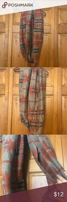 Big tribal print infinity scarf Big tribal print infinity scarf. Reversible! Lightly used. 12 OBO Accessories Scarves & Wraps
