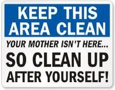 Printable Keep Breakroom Clean Signs