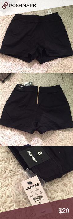 BLACK HIGH RISE SHORTS nice thick material - high waisted shorts Express Shorts