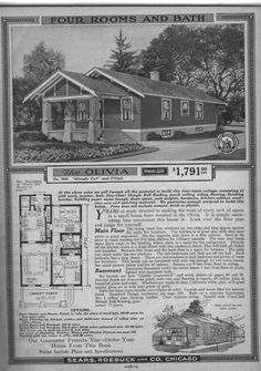 1920s Craftsman Bungalow | Bungalow Floor Plans - Sears - Modern Home No. 7028, The Olivia