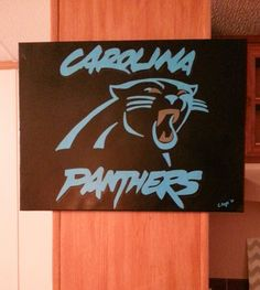 Carolina Panthers painted canvas Jan 2015