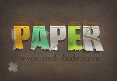 Create a Paper Text in Photoshop - Photoshop tutorial | PSDDude