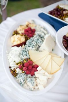 IMHO, every wedding needs a cheese plate like this!
