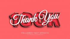 Thank you 100k followers 3d text style e... | Premium Psd #Freepik #psd #template #facebook #social-media #instagram Design Plano, 3d Text Effect, Text Style, Text Effects, Free Photos, Facebook, Typo, Instagram, Texts