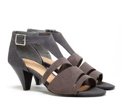 mid-heel sandals - these look comfy AND they are cute!