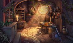 Art Fantasy Cottage Interior 6