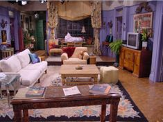 """Always loved the """"Friends"""" apartment -- especially the purple walls"""