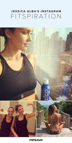 """Jessica Alba's Strong and Healthy Instagrams Will Inspire You to Adopt an """"I Can Do It"""" Attitude"""