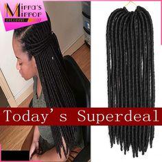 ロングフェイクlocかぎ針編み18インチ編み込み毛ドレッドエクステンションかぎ針編み髪柔らかい恐怖ロック合成編みヘアーエクステンション