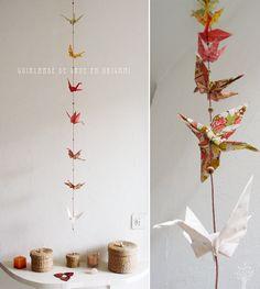DIY : guirlande de grues en origami   Eco-createurs, éco-création, DIY, créations, blog écolo, écologie