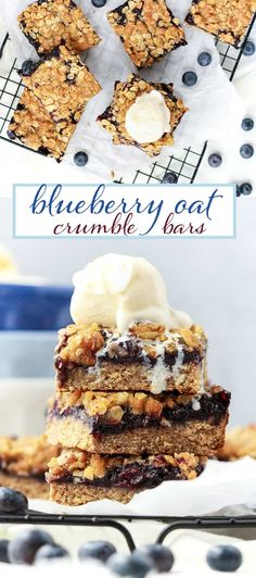 Blueberry Oat Crumble Bars