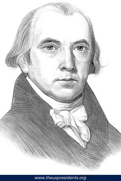 Our unique Picture of James Madison is an ideal educational resource for kids and schools. The Picture of James Madison is part of a special series of images of all the US Presidents. Large, quality picture of James Madison for kids. James Madison Facts, Star Spangled Banner History, All Us Presidents, George Clinton, United States Constitution, Democrats And Republicans, History For Kids, American History
