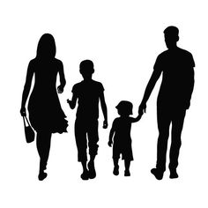 Silhouette Of A Mother And Child Holding Hands Illustrations, Royalty-Free Vector Graphics & Clip Art Silhouette Tattoos, Silhouette Vector, Parents Images, Children Holding Hands, Pumpkin Vector, Painting People, Tattoos For Kids, Cover Tattoo, Mom And Dad