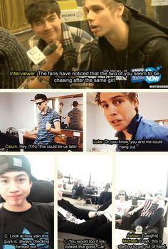 Imagine: Calum and Luke both like you but they decide it's best for you to choose who asks you out (Part1) (c) @5SOS_Imagining