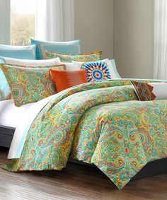 Another great find on #zulily! Yellow & Red Paisley Bedding Set #zulilyfinds