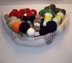Free Knitting Pattern for Yarn Hammock