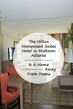 If you are looking for a hotel that feels like a home away from home, The Homewood Suites Hotel from Hilton in Midtown Atlanta is the place!