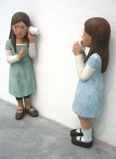 Ai Haibara Exhibition (carved in wood) 灰原 愛 個展 ~胸のざわめき~