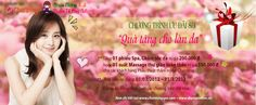 """Từ ngày 1/3 đến 31/3, TMV Charming tổ chức chương trình khuyến mãi dành tặng chị em phụ nữ như một món quà ý nghĩa, vừa mang giá trị tinh thần: """"Quà tặng cho làn da"""". www.deptoandien.com"""