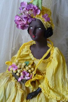 RARE ANTIQUE FRENCH BOUDOIR DOLL EXOTIC DOLL C 1920