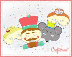 The Nutcracker Ballet Printable Mask Set PDF Mouse by Crafterina