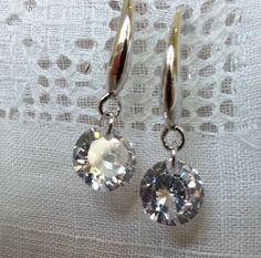 Beautiful Sterling Silver Swarovski Crystal Earrings by LoveByNina
