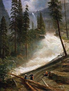 Nevada Falls Yosemite 1872/73 Albert Bierstadt