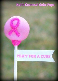 Breast cancer awareness ribbon cake pops cake pops balls all