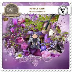 Purple rain by Black Lady Designs : DSH: Digital Scrapbooking Hill - high quality CU and PU elements, exclusive products, kits, freebies and more...