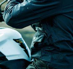 Men's Skyline Motorcycle Jacket in Graphite