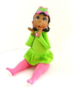 Ooak Baby Toddler in Pink and Green