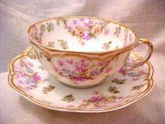 """Résultat de recherche d'images pour """"haviland gold brushed teacup rose"""""""