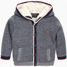 Mayoral Infant Boys Lined Cardigan in Grey/Navy Pattern Baby Boy Clothes Hipster, Hipster Babies, Baby Boy Outfits, Knit Baby Sweaters, Boys Sweaters, Winter Vest, Baby Winter, Nike Jacket, Rain Jacket