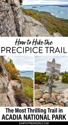 Acadia National Park: How to hike the Precipice Trail. #acadia #nationalpark #hiking #adventuretravel