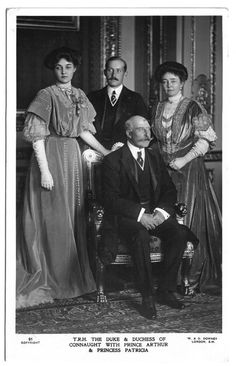 The Duke and Duchess of Connaught with Princess Patricia and Prince Arthur of Connaught.