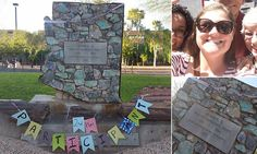Arizona mother turns Confederate monument into trophy | Daily Mail Online