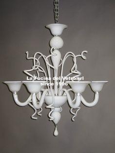 "Lampadario in vetro di Murano ""VARIGOLA"" - Murano glass chandelier ""MODERN""…"